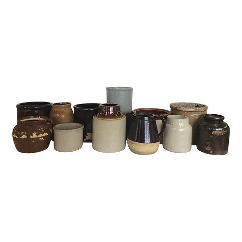 Assorted Pottery Crocks