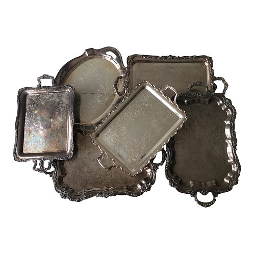 Silver Footed Tray