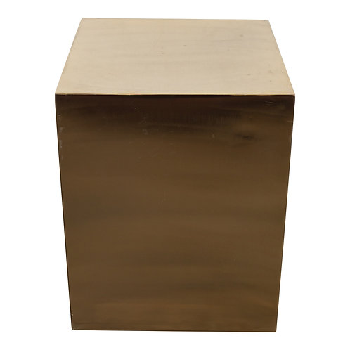 Gold Block Pedestal Table