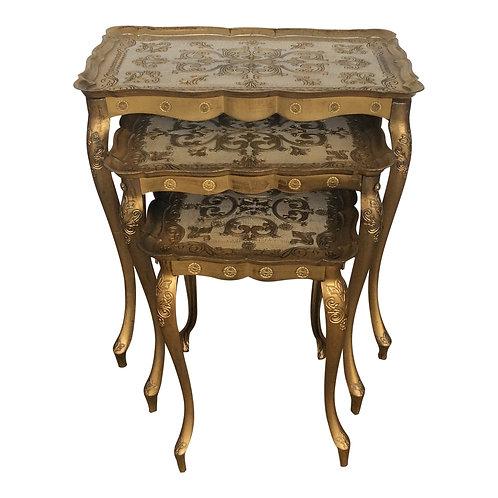 Juliet Gold Nesting Tables (Set of 3)