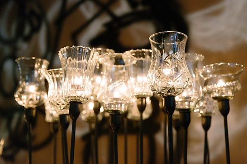 Clear Glass Pegged Votive (Assorted)