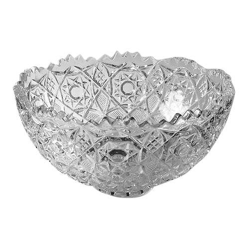 Clear Cut Glass Bowl - XL