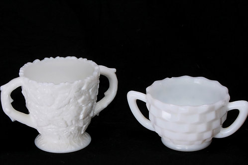 Milk Glass Sugar Bowl