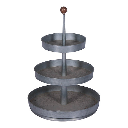 Galvanized 3-Tiered Stand
