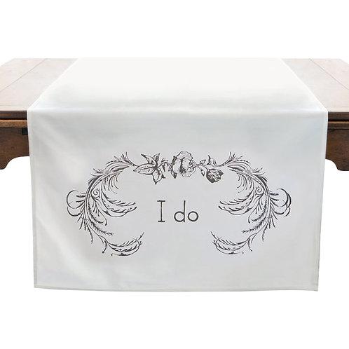 """I Do"" Table Banner"