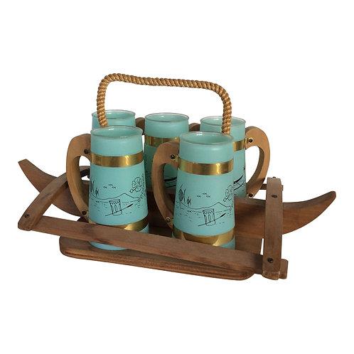Tiki Beach Barware Set