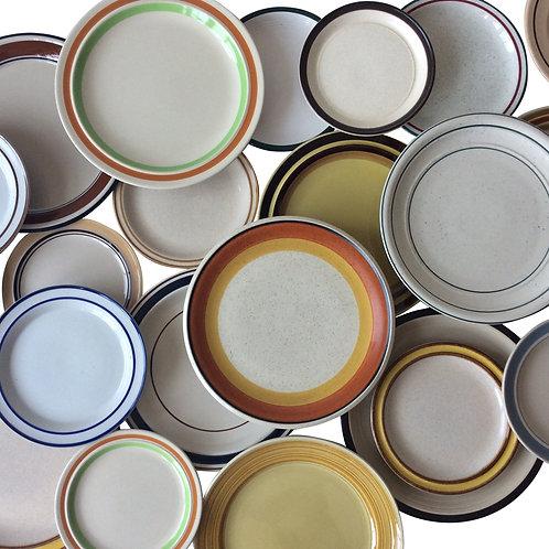 Striped Rim Dinnerware