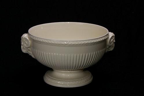 Ivory Pedestal Serving Bowl