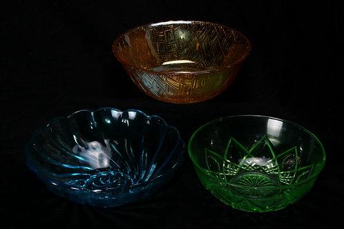 Depression Glass Bread/Serving Bowl