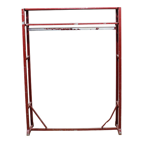 Red Metal Coat Rack