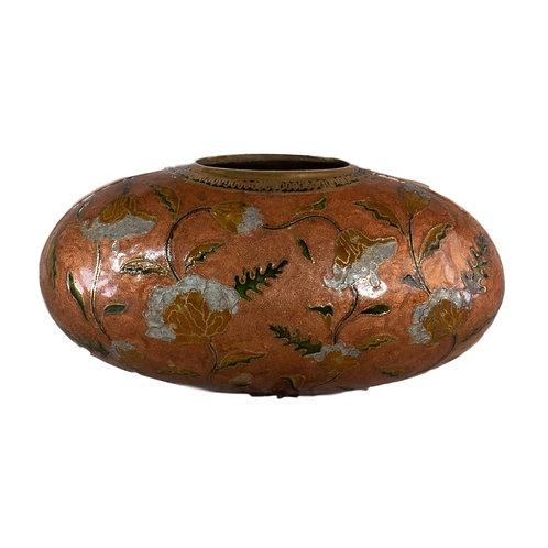 Enameled Copper/Brass Vase
