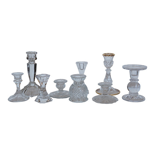 Crystal/Glass Candlestick Collection