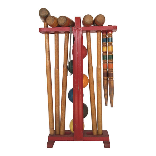Wood Croquet Set