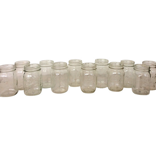 Clear Pint Mason Jar
