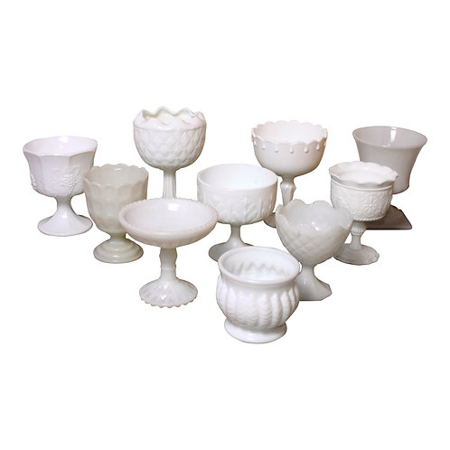 Milk Glass Vessel Collection