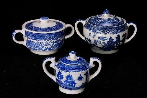 Blue/White China Sugar Bowl