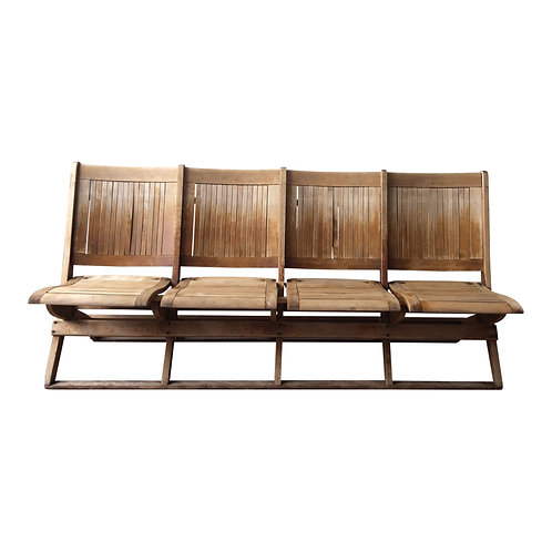 Four-Seater Wood Lawn Set