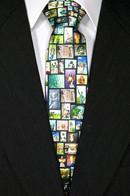 Embrace the Angel Silk Tie Black