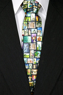 Embrace the Angel Silk Tie Black