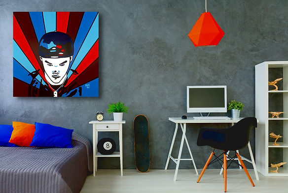 MY INTRODUCTION Contemporary Pop Rock Artwork for Modern Home Interior | Fine Art Prints For Sale by Artist Anita Nevar.