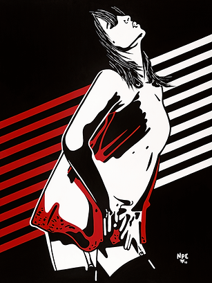 I TOUCH MYSELF Chrissy Amphlett Divinyls Fine Art Prints For Sale | Pop Erotic Artwork by Artist Anita Nevar.