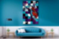 SAXMAN SPY Contemporary Pop Rock Artwork for Modern Home Interior | Original Canvas Painting For Sale by Artist Anita Nevar.