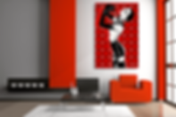 SISTER MIDNIGHT Pop Erotic Artwork for Modern Home Interior | Original Canvas Painting For Sale by Artist Anita Nevar.