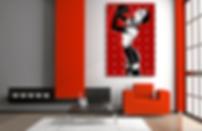SISTER MIDNIGHT Original Artwork for Modern Home Interior Decor | Pop Erotic Art Prints For Sale by Artist Anita Nevar.