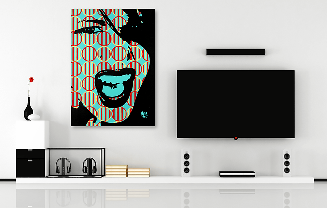 SCREAM V1 Pop Erotic Artwork for Modern Home Interior | Original Canvas Painting For Sale by Artist Anita Nevar.