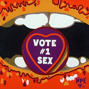 VOTE #1 SEX Fine Art Prints For Sale | Pop Erotic Artwork by Artist Anita Nevar.