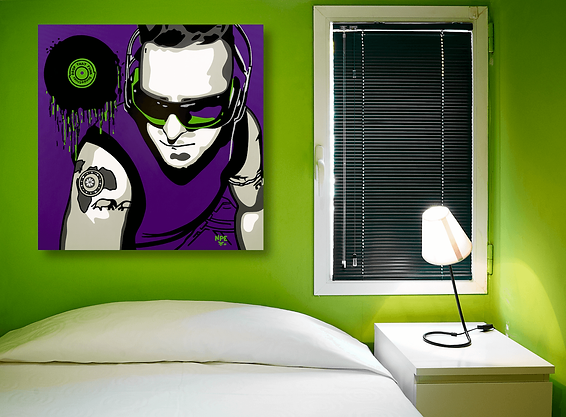 DROP THAT FUNK Contemporary Pop Rock Artwork for Modern Home Interior | Fine Art Prints For Sale by Artist Anita Nevar.
