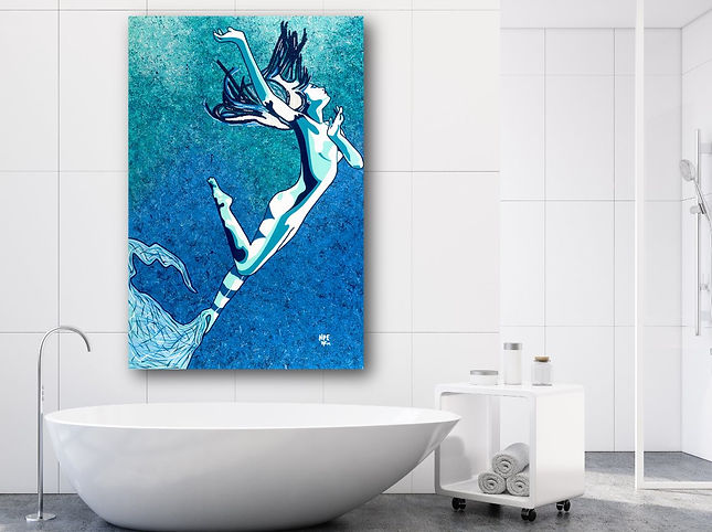 MATERIALIZE Pop Erotic Artwork for Modern Home Interior | Fine Art Prints For Sale by Artist Anita Nevar.