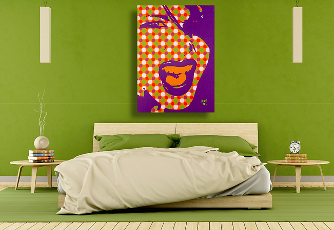 SCREAM V2 Pop Erotic Artwork for Modern Home Interior | Fine Art Prints For Sale by Artist Anita Nevar.