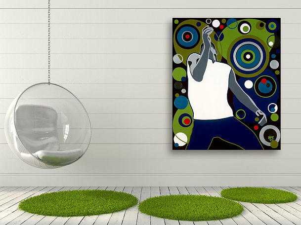 DA FUNK Contemporary Pop Rock Artwork for Modern Home Interior | Fine Art Prints For Sale by Artist Anita Nevar.