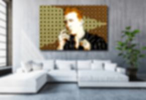 I WANT YOU SO HARD Josh Homme Pop Rock Artwork for Modern Home Interior | Fine Art Prints For Sale by Artist Anita Nevar.