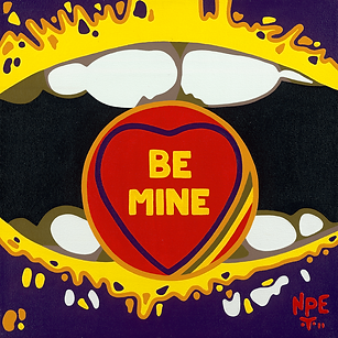 BE MINE Original Canvas Painting For Sale | Pop Erotic Artwork by Artist Anita Nevar.