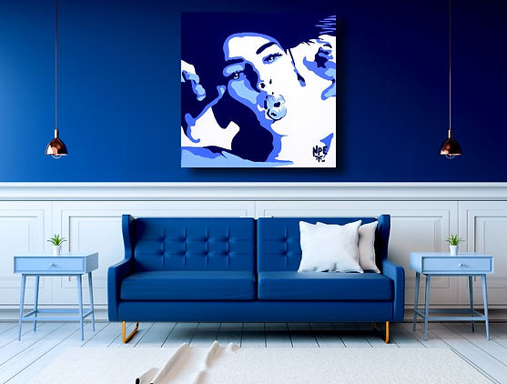 SHE'S LOOKIN AT YOU Pop Erotic Artwork for Modern Home Interior | Fine Art Prints For Sale by Artist Anita Nevar.