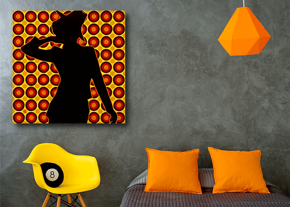 EXHIBITIONIST Pop Erotic Artwork for Modern Home Interior | Fine Art Prints For Sale by Artist Anita Nevar.