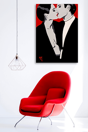 BURNING DESIRE Red Pop Erotic Artwork for Modern Home Interior | Fine Art Prints For Sale by Artist Anita Nevar.