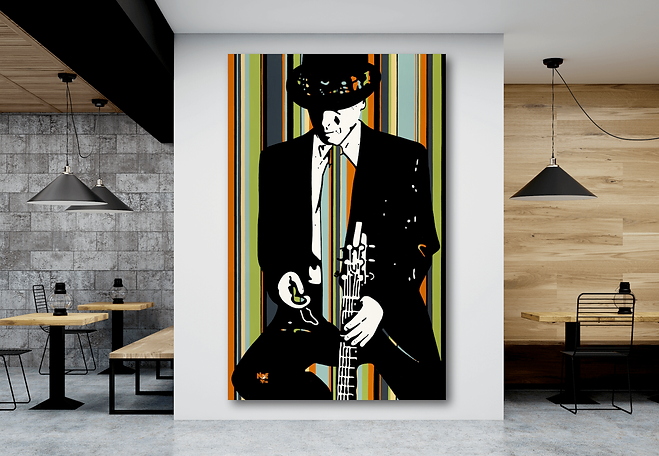 SWOON Contemporary Pop Rock Artwork for Modern Interior | Original Canvas Painting For Sale by Artist Anita Nevar.