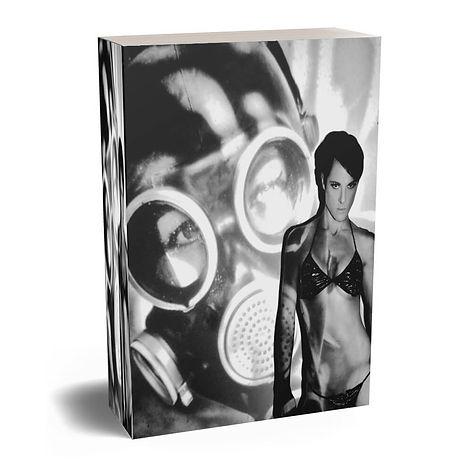 Black and white BDSM Mask Book Cover by Pop Erotic Artist Anita Nevar.