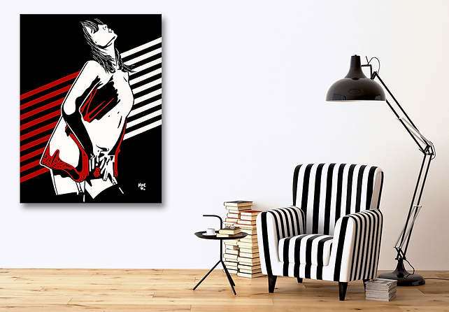 I TOUCH MYSELF Chrissy Amphlett Divinyls Pop Erotic Artwork for Modern Home Interior | Fine Art Prints For Sale by Artist Anita Nevar.