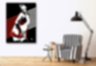 I TOUCH MYSELF Original Artwork for Modern Home Interior Decor | Pop Erotic Art Prints For Sale by Artist Anita Nevar.