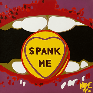 SPANK ME Fine Art Prints For Sale | Pop Erotic Artwork by Artist Anita Nevar.