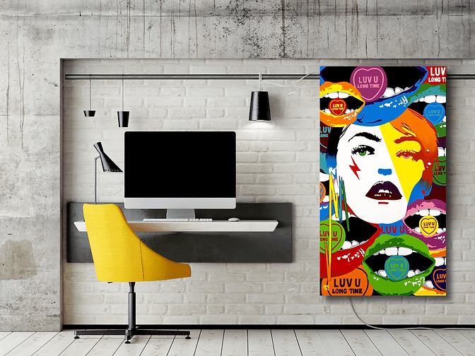 LUV U LONG TIME Pop Erotic Artwork for Modern Home Interior | Fine Art Prints For Sale by Artist Anita Nevar.