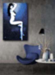 MISS DAISY Original Artwork for Modern Home Interior Decor | Pop Erotic Art Prints For Sale by Artist Anita Nevar.