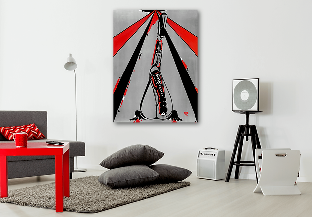 PUSSY WHIPPED Pop Erotic Artwork for Modern Home Interior | Fine Art Prints For Sale by Artist Anita Nevar.