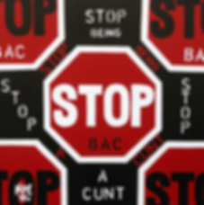 STOP BEING A CUNT Original Canvas Painting For Sale | Pop Erotic Artwork by Artist Anita Nevar.
