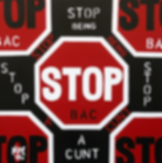 STOP BEING A CUNT Original Canvas Painting For Sale | Pop Artwork by Artist Anita Nevar.