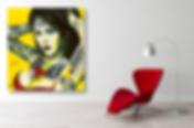 BOMBSHELL Pop Erotic Artwork for Modern Home Interior | Fine Art Prints For Sale by Artist Anita Nevar.